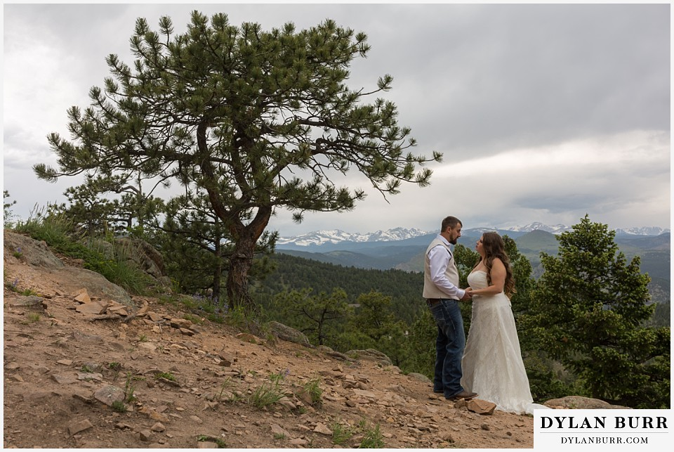 colorado mountain elopement lost gulch overlook wedding boulder co ponderose pine