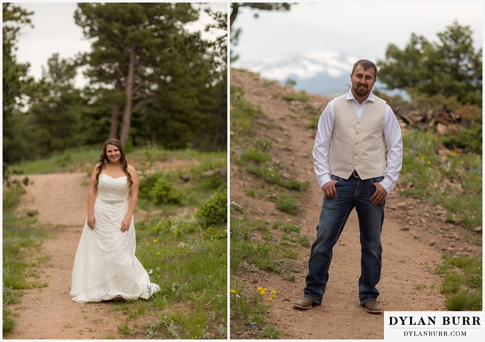 colorado mountain elopement lost gulch overlook wedding boulder co bride and groom