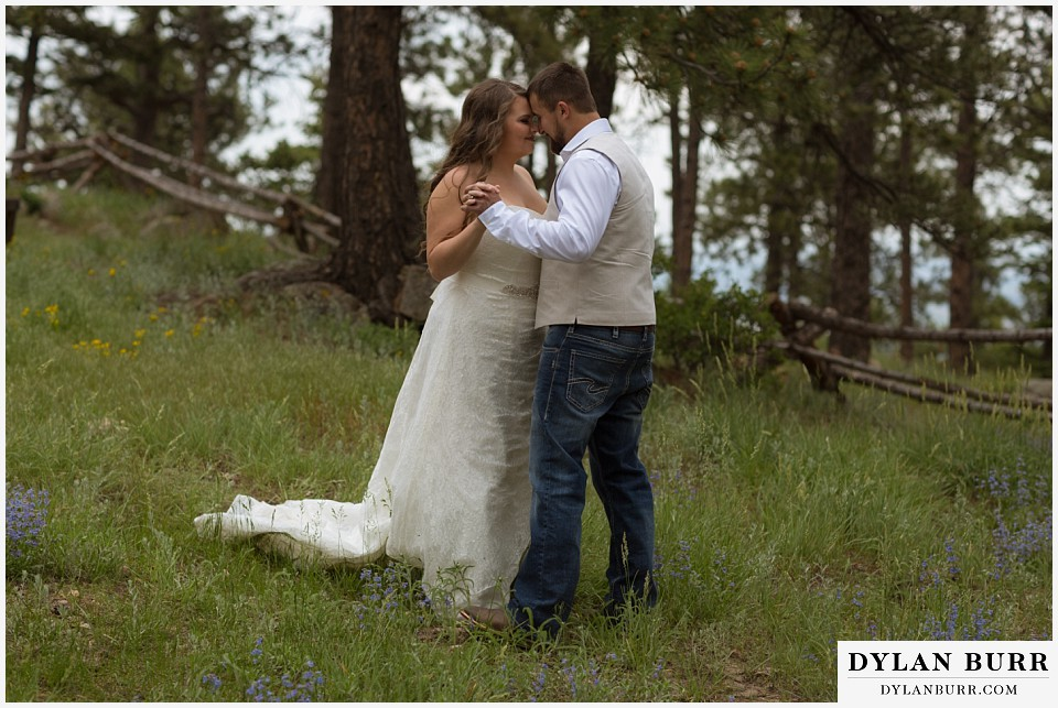 colorado mountain elopement lost gulch overlook wedding boulder co dacing in wildflowers