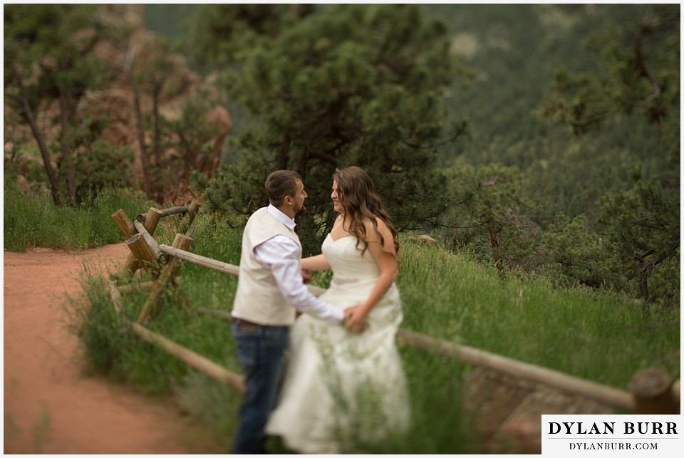 colorado mountain elopement lost gulch overlook wedding boulder co tilt shift lens