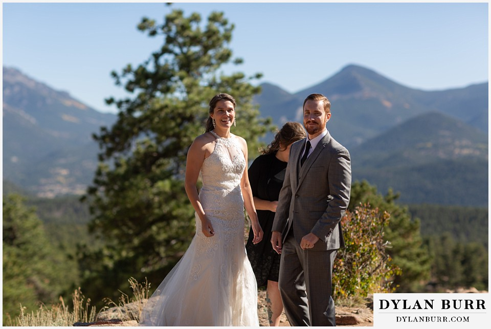 rocky mountain national park elopement wedding newlywed couple