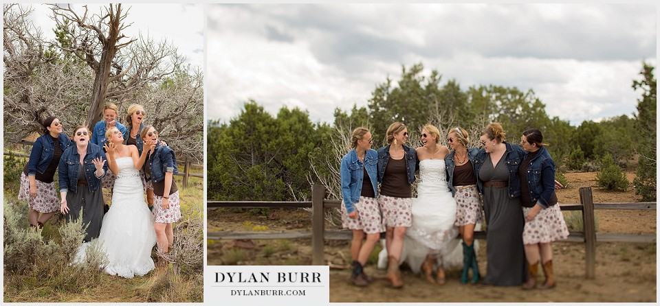 fun outdoor bridesmaids photos montrose colorado