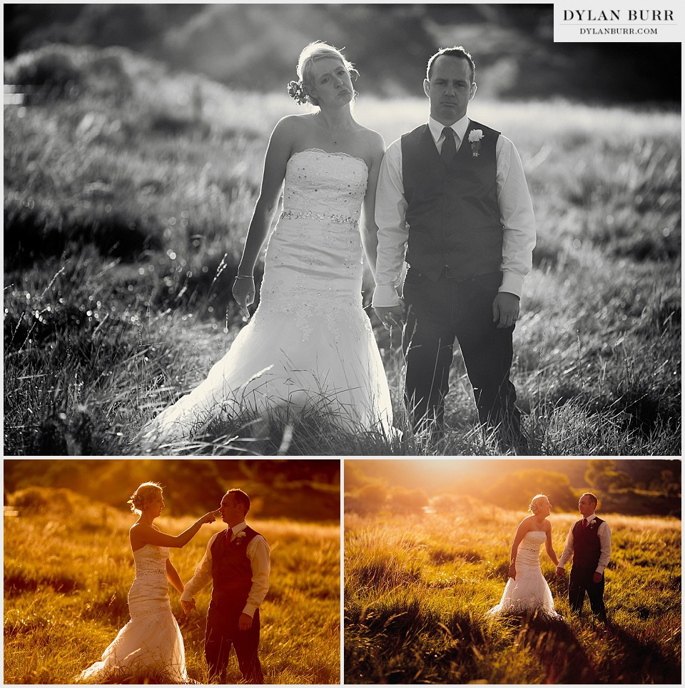 outdoor colorado wedding funny sunset photos montrose co