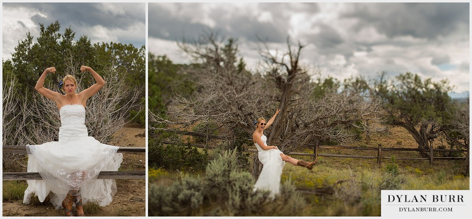 outdoor wedding colorado bride funny montrose co