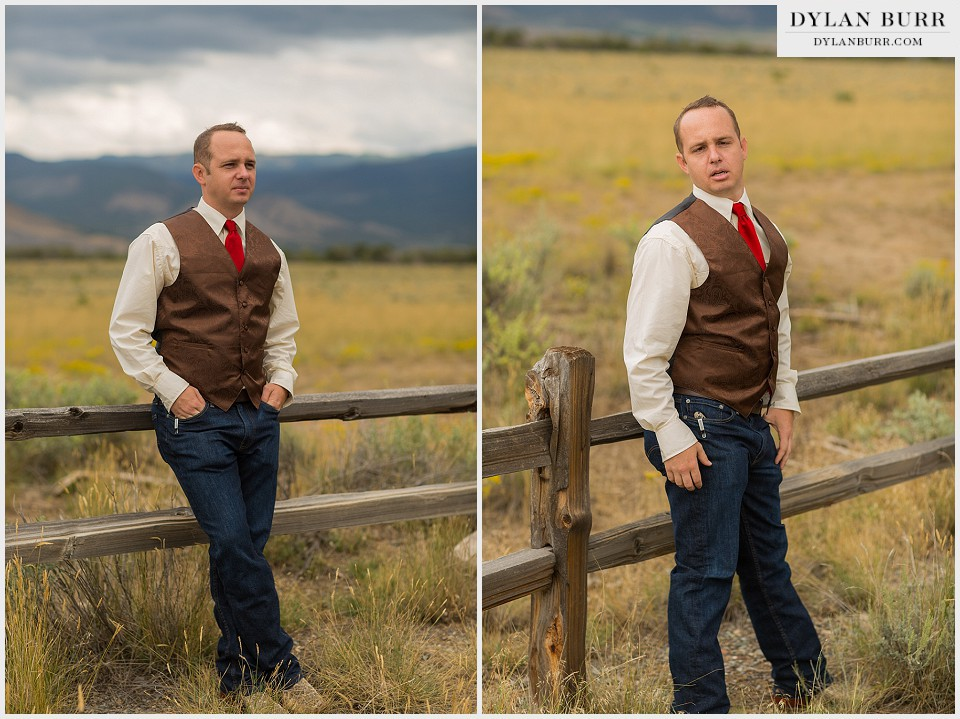 rustic outdoor colorado wedding fun groom photos offbeat groom
