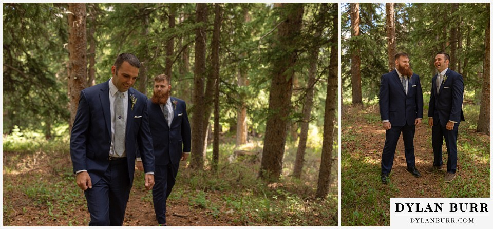 telluride colorado elopement wedding adventure groom and best man having a laugh