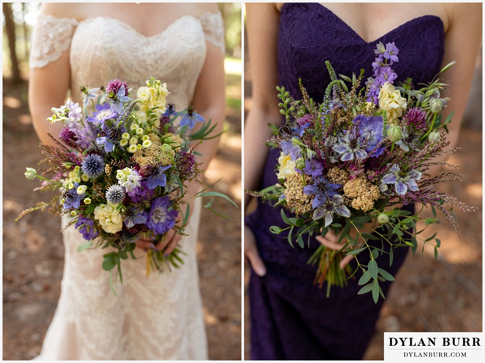 telluride colorado elopement wedding adventure bride and moh maid of honor bouquet
