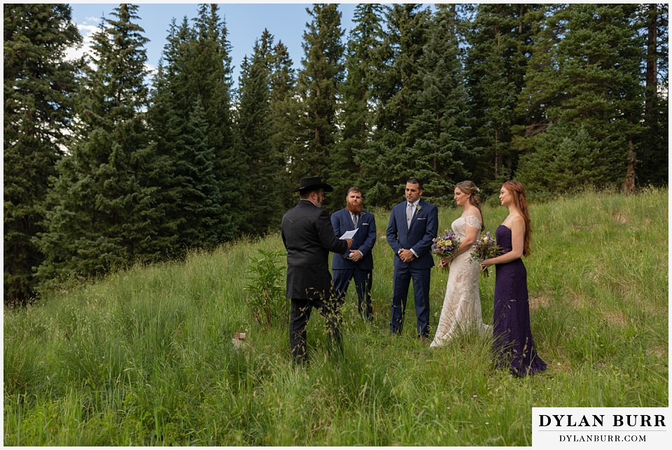 telluride colorado elopement wedding adventure bride groom and best man and maid of honor