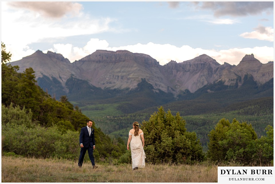 telluride colorado elopement wedding adventure bride and groom playing near dallas divide and ridgeway