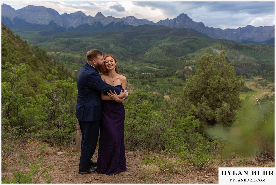 telluride colorado elopement wedding adventure maid of honor and best man together at dallas divide