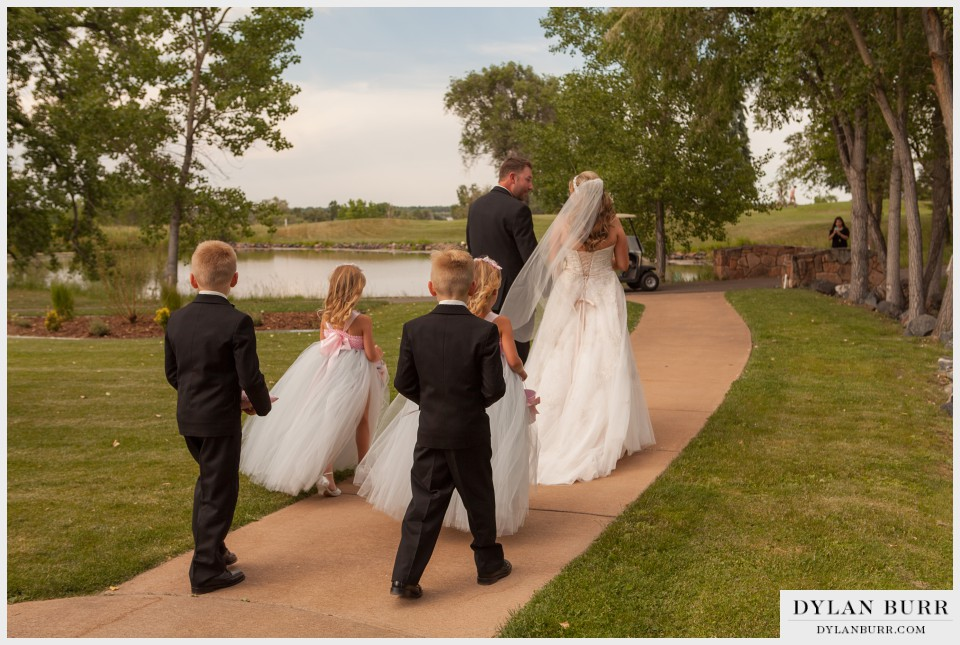 denver wedding photographer vista at applewood ceremony exit