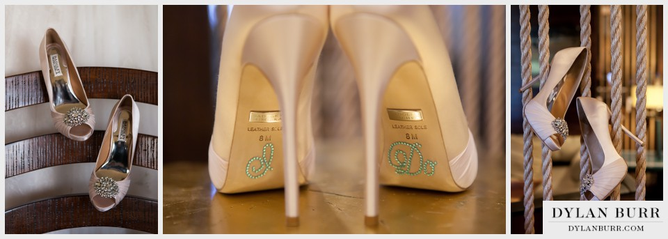 denver west marriot wedding photography shoes badgley mischka