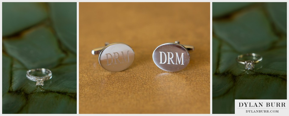 vista at applewood denver wedding photography rings cufflinks