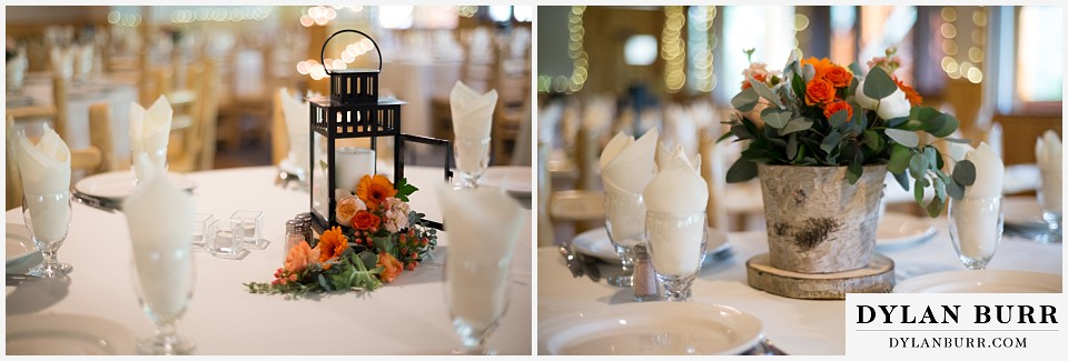 wild basin lodge hindu wedding table centerpieces
