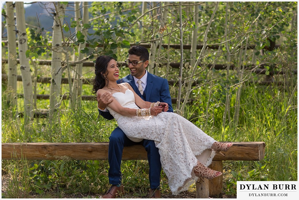wild basin lodge hindu wedding fun couple