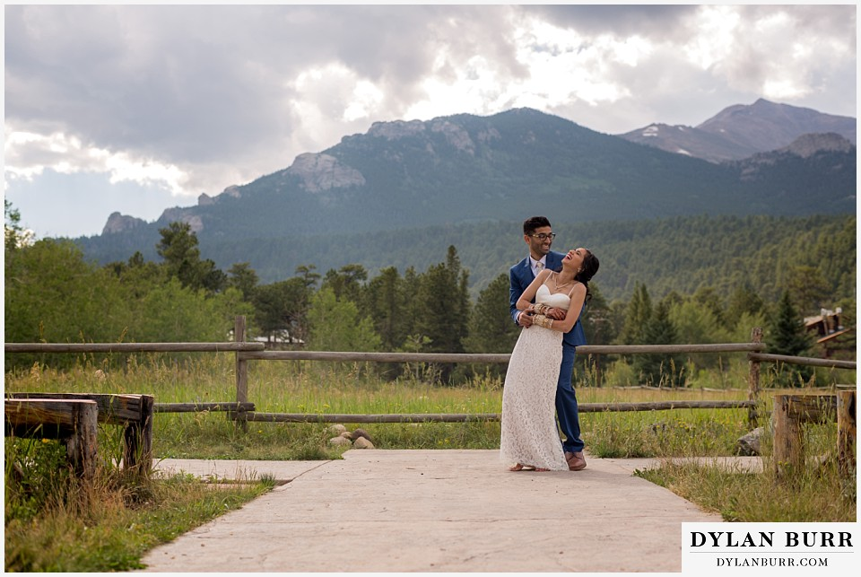 wild basin lodge hindu wedding mountain view