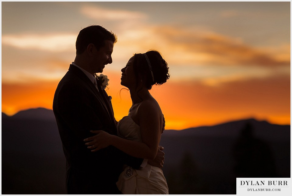 winter park wedding sunset photos silhouette lodge at sunspot