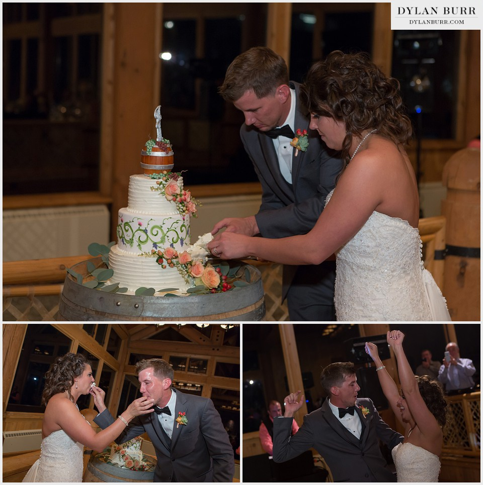 winter park wedding cake cutting lodge sunspot