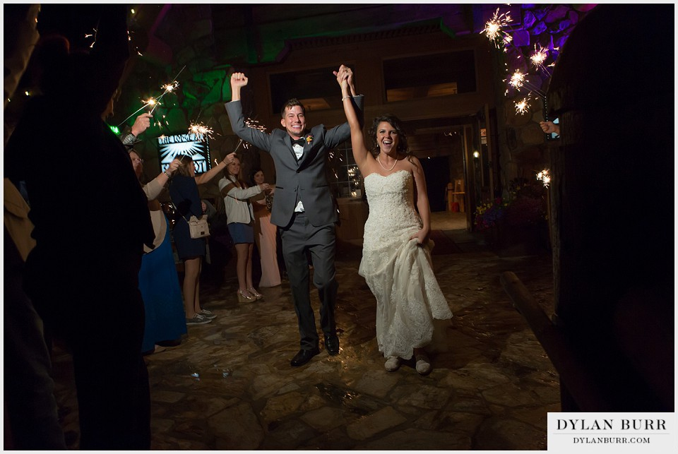 winter park wedding lodge sunspot sparkler exit