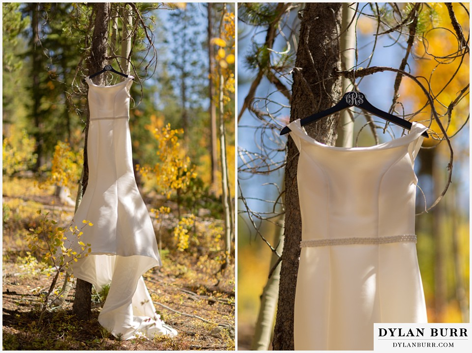 winter park mountain lodge wedding colorado brides dress
