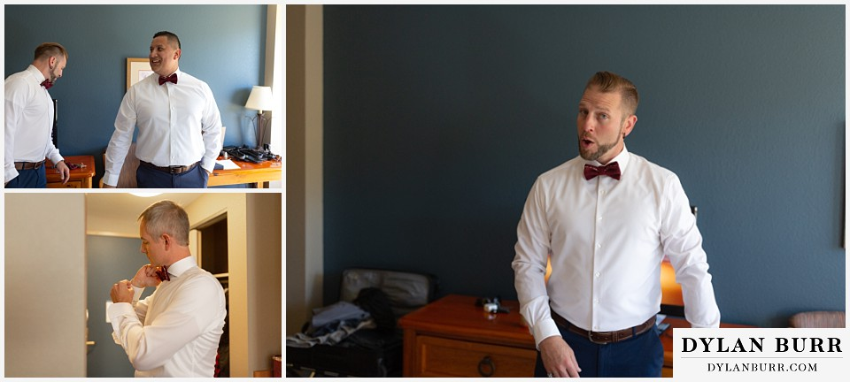 winter park mountain lodge wedding colorado groomsmen getting ready