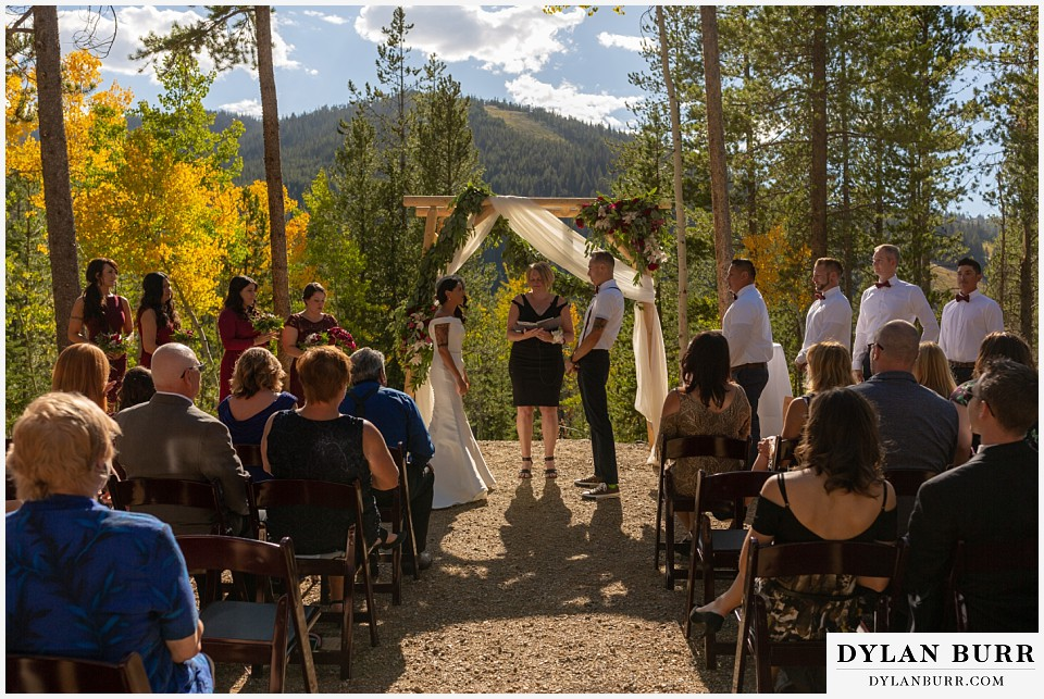 winter park mountain lodge wedding colorado ceremony site with arbor