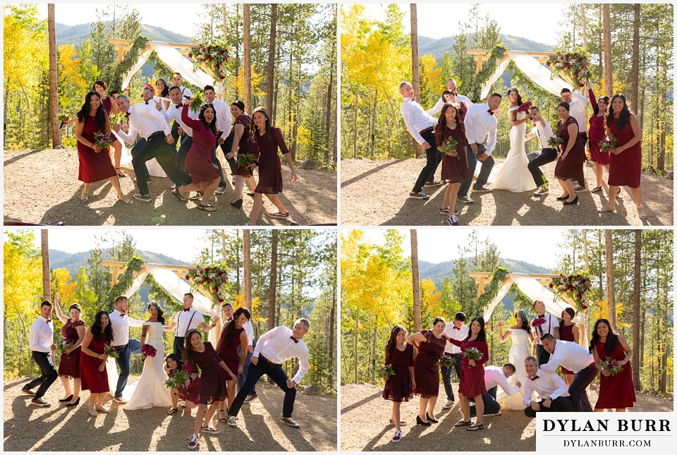 winter park mountain lodge wedding colorado fun bridal party photos