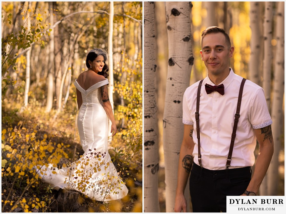 winter park mountain lodge wedding colorado bride alone and groom alone