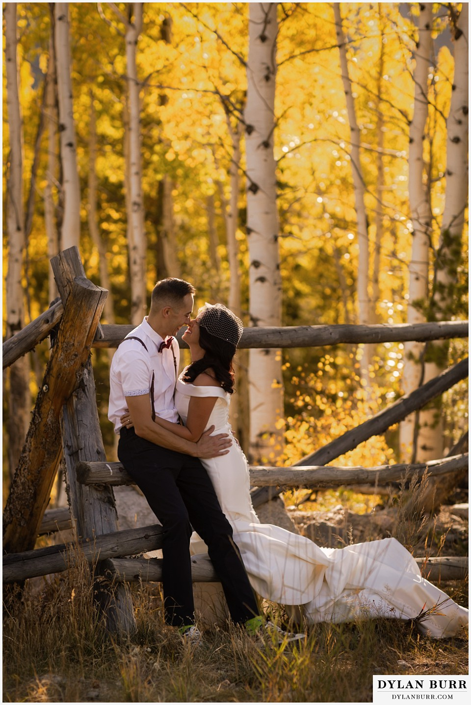 winter park mountain lodge wedding colorado bride and groom sharing a fall colorado moment