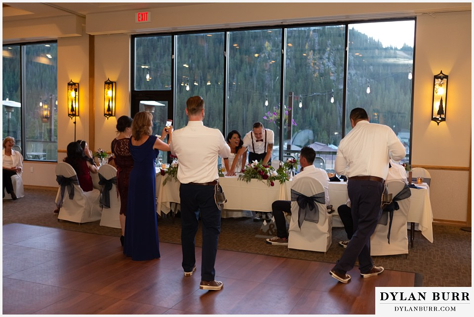 winter park mountain lodge wedding colorado groomsmen toasts