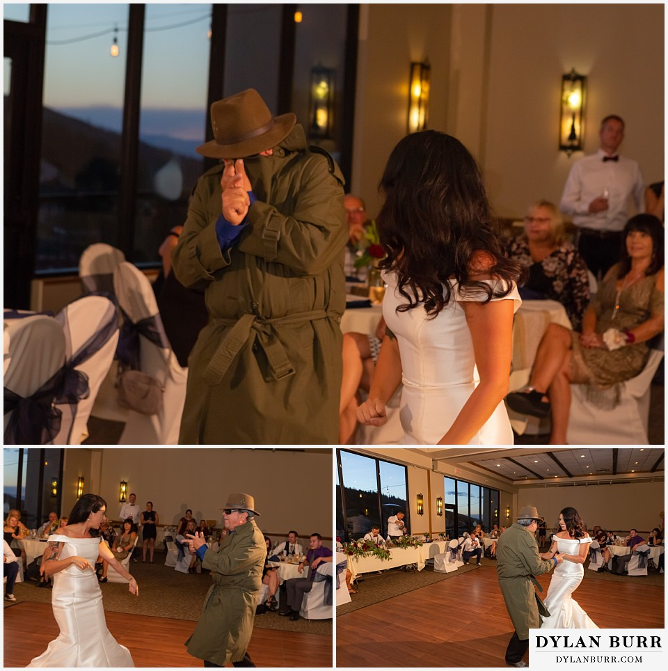winter park mountain lodge wedding colorado father daughter dance