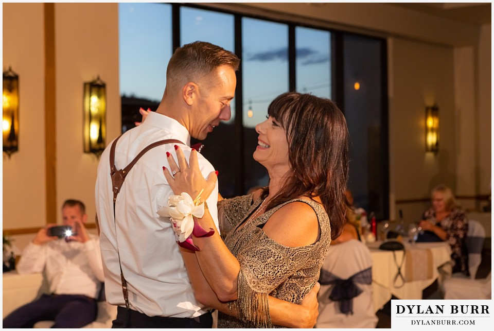 winter park mountain lodge wedding colorado mother son dance