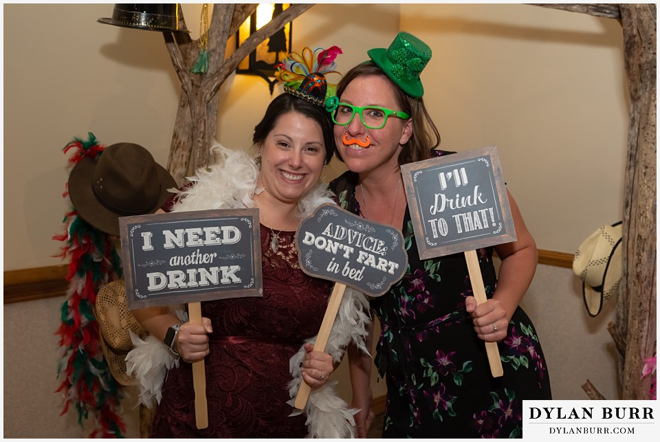 winter park mountain lodge wedding colorado funny photo booth props