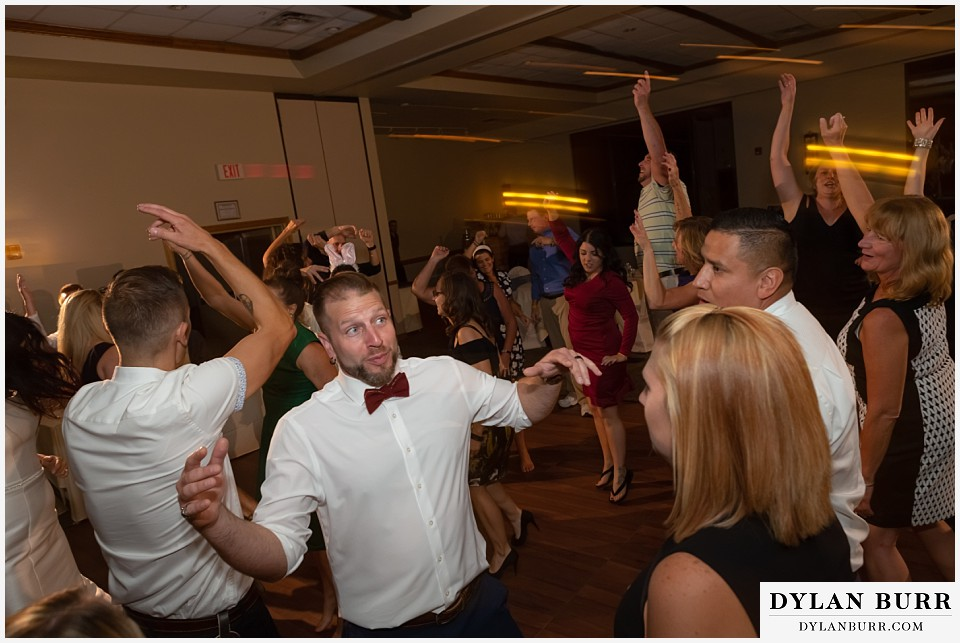 winter park mountain lodge wedding colorado reception dance party groomsmen