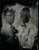 wedding tintype wetplate portrait gay married couple